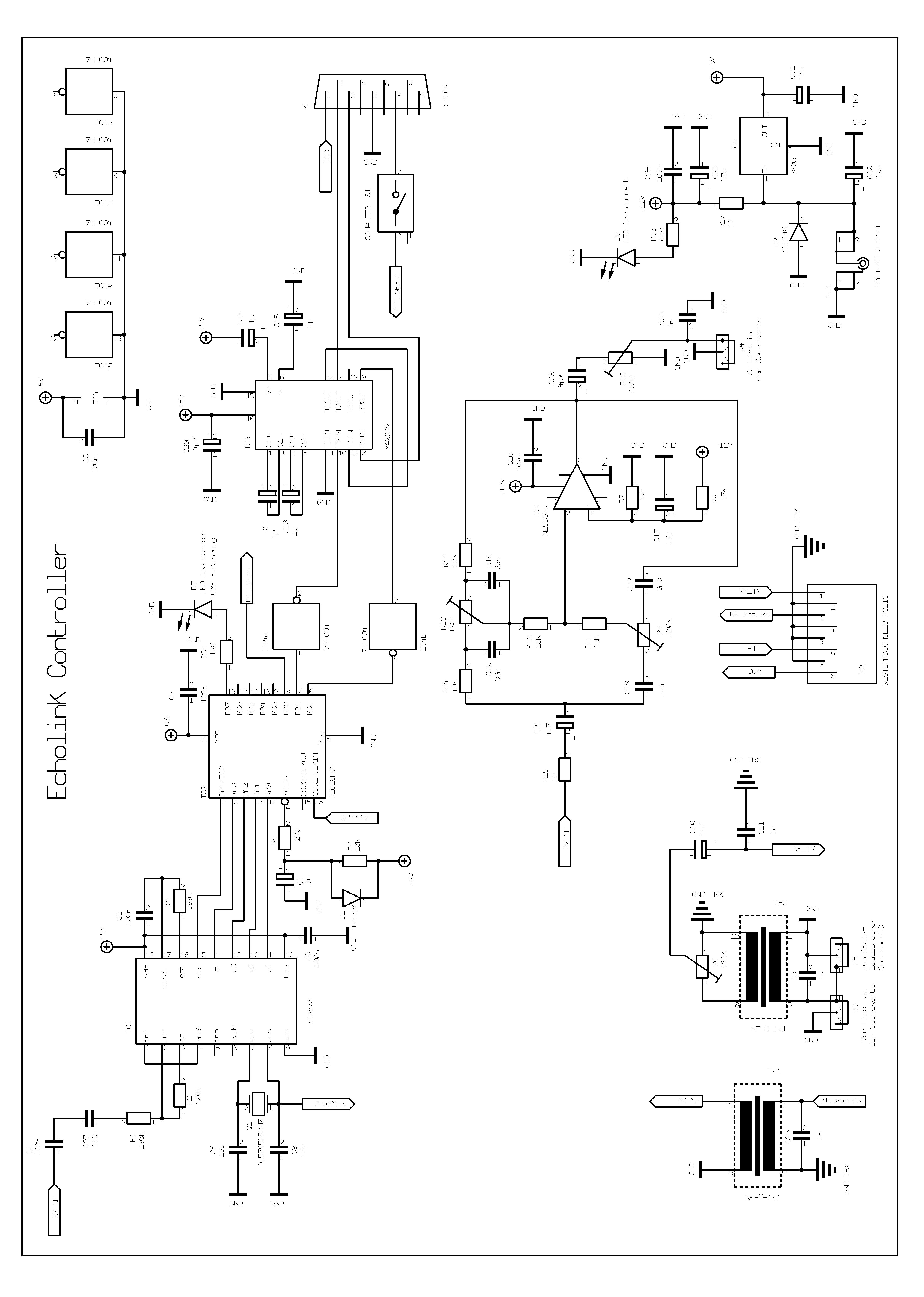Echolink Controller Dtmf Decoder Circuit Page 1